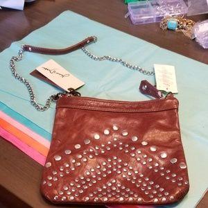 🆕NWT Drake Studded Soft Leather Cross-body Bag
